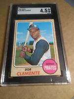 Roberto Clemente SGC 4.5 VG-EX 1968 Topps Pittsburgh Pirates # 150