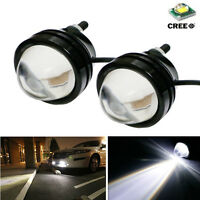2Pcs White 5W CREE High Power Fish / Bull  Eye Projector Fog Light DRL LED Lamps