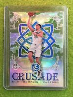 KLAY THOMPSON REFRACTOR WARRIORS PRIZM 2016-17 Panini Excalibur Crusade Camo #26