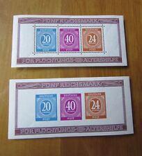 EBS Germany 1946 Allied Occupation Berlin Stamp Show Mi. BLOCK 12A & 12B SS