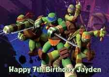 Personalised A4 Teenage Mutant Ninja Turtles TMNT Edible Wafer Cake Topper