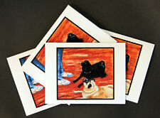 Pugs At Attention! - Note Cards