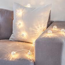 16er CADENA DE LUCES LED Marroquí Plata Oriente decoración iluminación Corriente