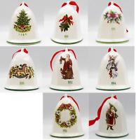 Pfaltzgraff Christmas Heritage Bell Ornament Choice 89 90 91 92 93 94 96 Santa