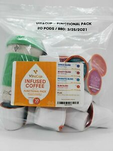 BULK VitaCup Infused Functional Pack for Keurig 20 K-Cups w/ EcoMug BBD: MAR 21