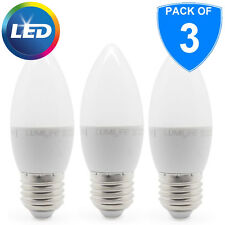 3x 5W E27 LED Edison 5000k Screw Candle ES Bulb 30w Replacement Cool White 850