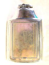 Vintage Ronson Cigarette Makeup Case Mirror Lighter Art Metal Sparking Well Rare