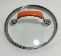 """Rachel Ray Orange Handle Round Glass Replacement Lid 6.25"""" Inner 7"""" Outer"""