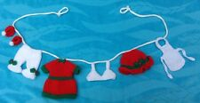 KNITTING PATTERN - Cute Mother Christmas washing line garland decoration