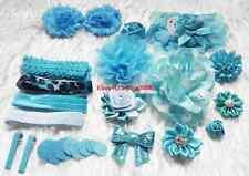 Deluxe Blue DIY kits flower,Baby Shower Station,Headband hair clips for girls