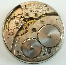 Waltham Royal Pocket Watch Movement - Spare Parts / Repair