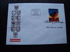 AUTRICHE - enveloppe 1er jour 6/12/1978 (B4) austria (A)