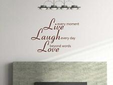 Live reír Love Quotes Autoadhesiva De Vinilo El Arte De Pared la Decoración del Hogar lll7