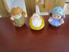 Fisher Price Little People Nativity Jesus Christmas Mary Joseph Baby Manger lot