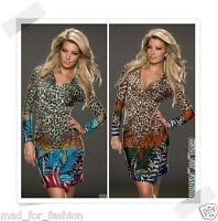 SEXY WRAP LOOK DRESS IN MULTICOLOR. UK 8.10.12. EU 36.38.40.
