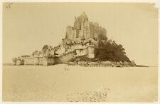 Photo Albuminé Bretagne Mont Saint Michel Vers 1880