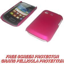 Pellicola + custodia BACK cover RIGIDA FUCSIA per Samsung Galaxy Pocket S5300