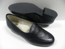 Chaussures OMBELLE gibus noir FEMME taille 37 mocassins Made in FRANCE cuir NEUF