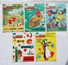 Lot journal Tintin Zig & Puce 759 789 804 819 830 / HERGE GREG / BD / 1963 1964