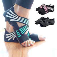 UK Women Non-Slip 5-Toe Half Toe Yoga Pilates Ankle Socks Soft Sole Ballet Shoes