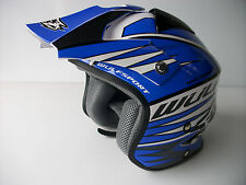 New Wulfsport Blue Fibreglass Trials Helmet Sz XS Beta Gasgas Txt REV50 MINI