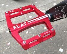 Aluminum MTB Mountain Road BMX XC AM Bike Bearing Pedals flat Platform Pedal Red