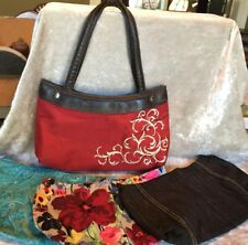 Thirty One Skirt Purse-4 Skirts: Red/white, Blue/green, pink Floral, Denim