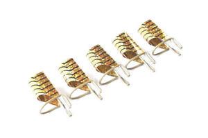 5 x Modellage Schablone Wiederverwendbar Gold für Gel Acryl + Box