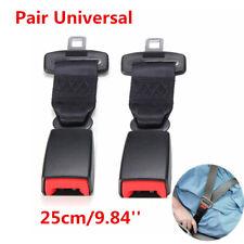 2x 25cm Car Seat Belt Safety High Strength Nylon Extender Extension Strip Buckle