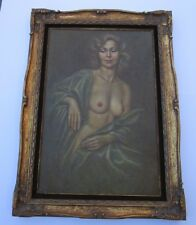 LARGE FINEST IRENE SPENCER ORIGINAL OIL PAINTING NUDE FEMALE WOMAN MODEL VINTAGE