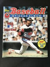 Vintage 1983 TOPPS Baseball Sticker Album Reggie Jackson