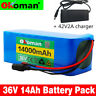36V14AH Li-ion Battery Volt Rechargeable Bicycle 500W E Bike Electric + Charger
