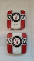 Lot of 2 Vintage Winston Racing Nation Cigarette Tins w/Plastic Tray Liner