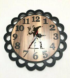 Beautiful Handmade Wooden Wall Clock, For Home Decor, Customizable