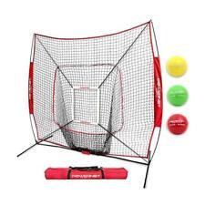 PowerNet DLX 2.0 Baseball Softball Hitting Net w/ 3 Progressive Weighted Balls