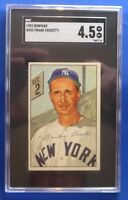 FRANK CROSETTI New York Yankees vintage 1952 Bowman #252 SGC Graded: 4.5 (vg/ex)