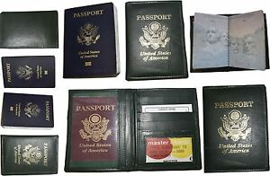 Lot of 6 New lambskin leather Passport cover. ID case credit card wallet bnwt .