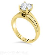 Engagement Diamond Ring Enhanced Real Diamond 1.03 CT VS1/D Yellow Gold 14K