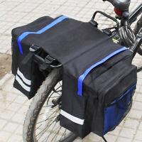 Bike Bicycle Rear Seat Double panniers bags Trunk Rack Pack Waterproof Panniers
