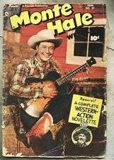 Monte Hale Western #37-1949 gd photo cover Gabby Hayes