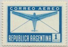 Argentina Sc. C40 var Plane and Letter 1940 Mnh Wrong Color