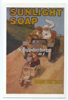 ad0746 - Sunlight Soap - Leads The Way! Kids Go-Carting   Modern Advert Postcard