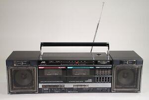 Vintage JVC Boombox PC-W35 Portable Stereo System AM/FM Radio/ Cassette Player