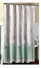 Nantucket Fabric Shower Curtain Bath Nautical Ocean Beach Fishing Net Blue