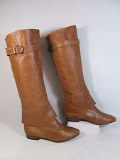 Chinese Laundry Leather Knee High Fashion Boots Tan Sz 8.5-M