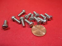 "Fillister Head Stainless Steel Slotted Machine Screw 10-24 x 1/2"" Length 100 Pcs"