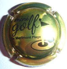 Capsule de Champagne: Exclusivité !!!! BARBET , Mini Golf de Merlimont Plage ,or