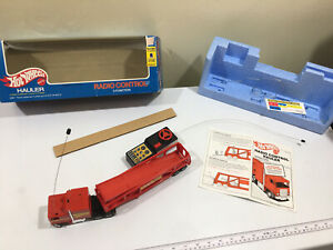 Super Rare 1981 Hot Wheels R/C Remote Hauler Semi Truck Mattel #5051 WORKS BOX