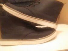 Boys Nautica Leather Dress Or Casual Shoes Size 4 Navy & Nice!
