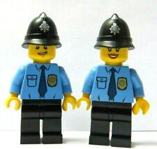 LEGO 2 Police Minifigure Policeman Policewoman Officer Constable Blue Shirt